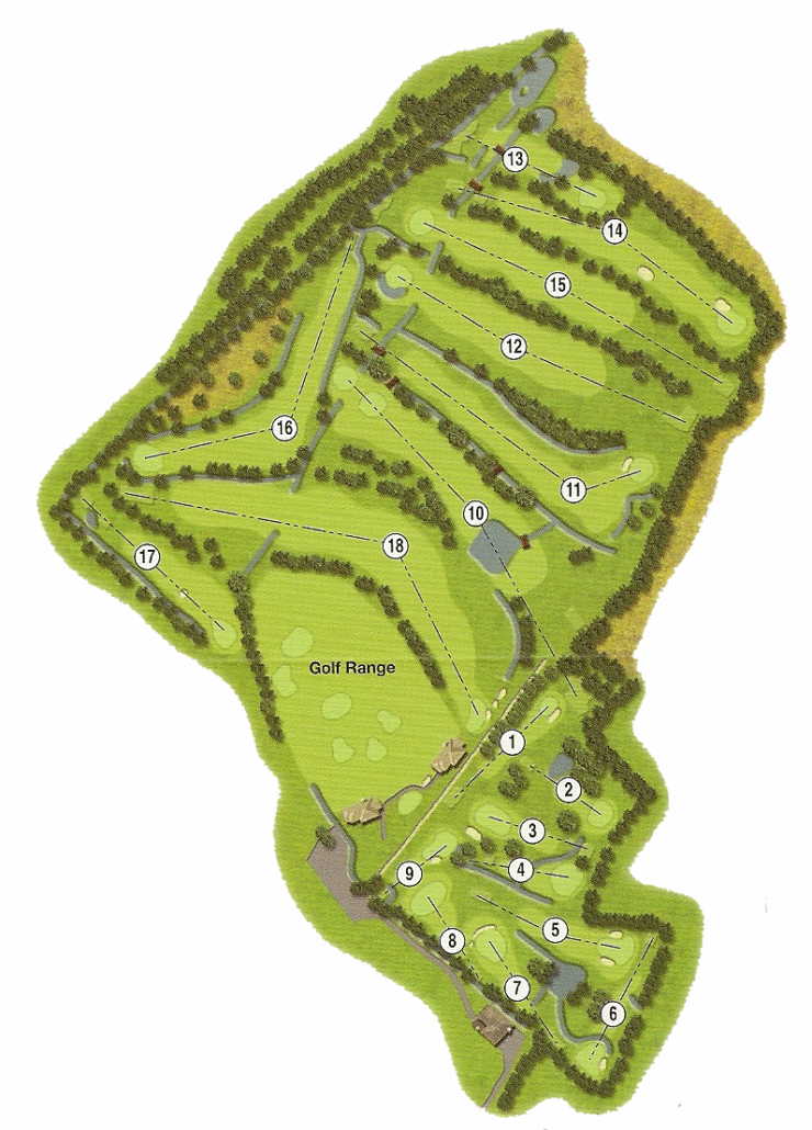 Denver Golf Club Course Map