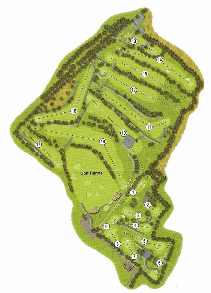 Denver Golf Club Course Map